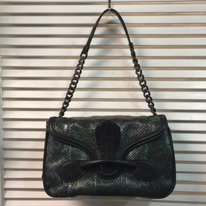Green/Black Python Bottega Veneta Shoulderbag